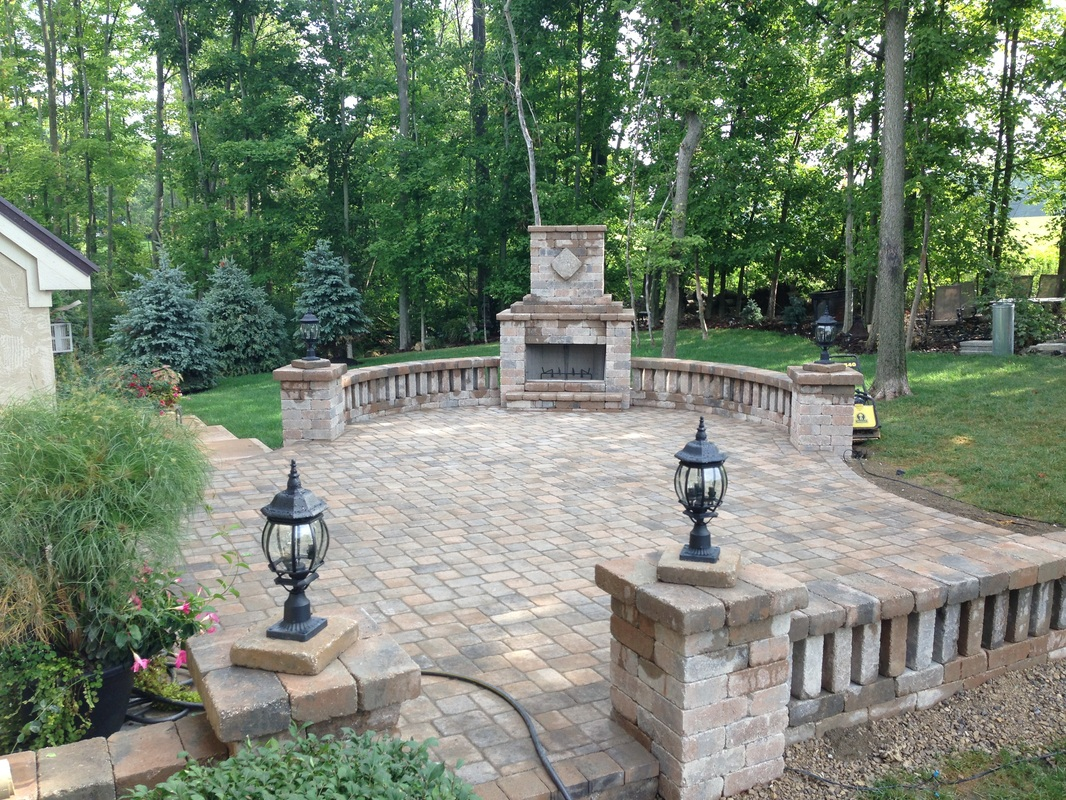 Outdoor Fireplace | Paver Patio Powell OH Columbus