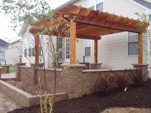 Columbus Ohio Paver Patio Cedar Pergola Dublin Ohio