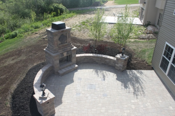 akron outdoor fireplace contractor paver patio
